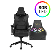 [$170 OFF] - Gamdias Achilles M1 L BLACK Gaming Chair - RGB Back Lighting ($379 value)