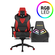 [$269] - Gamdias Achilles M1 L BLACK/RED Gaming Chair - RGB Back Lighting ($379 value)