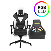 [$269] - Gamdias Achilles M1 L BLACK/WHITE Gaming Chair - RGB Back Lighting ($379 value)