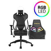 [$80 OFF] - Gamdias Achilles E1 BLACK/WHITE Gaming Chair - RGB Back Lighting ($269 value)