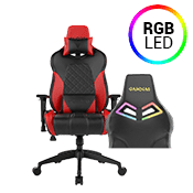 [$199] - Gamdias Achilles E1 BLACK/RED Gaming Chair - RGB Back Lighting ($269 value)