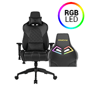 [$80 OFF] - Gamdias Achilles E1 BLACK Gaming Chair - RGB Back Lighting ($269 value)