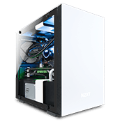 NZXT H200i Tempered Glass Gaming Case - White with NZXT Hue+ RGB Lighting