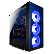 Aerocool Quartz Blue Front and Side Tempered Glass Gaming Case