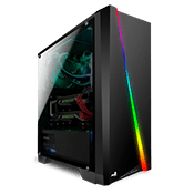 AeroCool Cylon RGB Gaming Case - Black