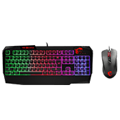 MSI Vigor GK40+ GM10 Gaming Keyboard/Mouse Combo-Optical 2400 dpi RGB KB