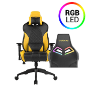 [$189] - Gamdias Achilles E1 BLACK/YELLOW Gaming Chair - RGB Back Lighting ($269 value)