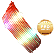 iBUYPOWER Exclusive RGB Cable Combs + [Red] Sleeved Extension Cables (Include Professional Wiring)