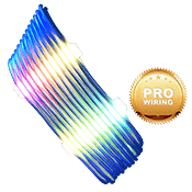 iBUYPOWER Exclusive RGB Cable Combs + [Blue] Sleeved Extension Cables (Include Professional Wiring)