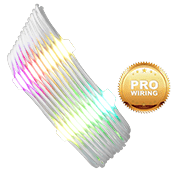 iBUYPOWER Exclusive RGB Cable Combs + [White] Sleeved Extension Cables (Include Professional Wiring)