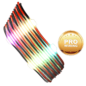 iBUYPOWER Exclusive RGB Cable Combs + [Black/Red] Sleeved Extension Cables (Include Professional Wiring)