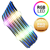 iBUYPOWER Exclusive RGB Cable Combs + [Black/Blue] Sleeved Extension Cables (Include Professional Wiring)