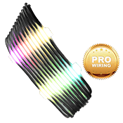 iBUYPOWER Exclusive RGB Cable Combs + [Black] Sleeved Extension Cables (Include Professional Wiring)