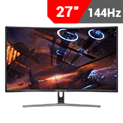 "27"" [1920x1080] Sceptre C275B-144R Curved LED-Lit Monitor -- 144Hz 3ms-Single Monitor"