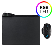 Corsair Dark Core RGB SE Wired/Wireless Gaming Mouse + MM1000 Qi Wireless Charging Mouse Pad