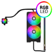 DEEPCOOL New Ark 90 Custom Liquid Cooling System - Deepcool New Ark 90 Case Only-RGB