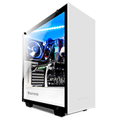 iBUYPOWER 502 Tempered Glass Gaming Case - White