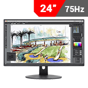 "24"" [1920x1080] Sceptre E248W-1920SR LED-Lit Monitor w/ Built-in Speakers -- 75Hz 5ms-Single Monitor"