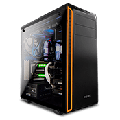 be quiet! Pure Base 600 Tempered Glass Gaming Case - Orange