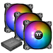 3x [RGB] Thermaltake Pure Plus 12 Premium Edition 120mm RGB LED Fan
