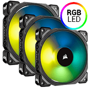 3x [RGB] Corsair ML120 PRO Premium Magnetic Levitation 120mm RGB LED Fan