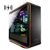 be quiet! Dark Base PRO 900 Tempered Glass Gaming Case - Orange with Wireless Charging and LED Lighting