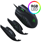 Razer Naga Trinity RGB Chroma Gaming Mouse-16,000 DPI optical sensor
