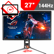 27'' [3840x2160] ASUS ROG SWIFT PG27UQ 4K IPS HDR Gaming Monitor -- 144Hz 4ms + G-Sync + Aura Sync RGB-Single Monitor