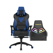 Gamdias Achilles E1 Gaming Chair w/ RGB Back Lighting - [Black/Blue] ($269 value)
