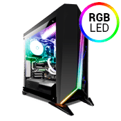 Corsair Carbide Series Spec Omega Tempered Glass RGB Gaming Case - Black/Black