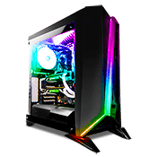 CORSAIR Carbide Series Spec Omega Tempered Glass RGB Gaming Case - Black with Corsair RGB Lighting Node Pro