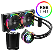 ENERMAX 240mm LIQFUSION RGB CPU Liquid Cooling System [FREE Enermax HD Docking and Bluetooth Speaker]
