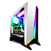 CORSAIR Carbide Series Spec Omega Tempered Glass RGB Gaming Case - White with Corsair RGB Lighting Node Pro