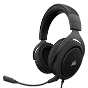 Corsair HS60 Gaming Headset [Carbon] - Virtual 7.1 Surround Sound-Specially tuned 50mm neodymium speaker drivers