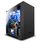 NZXT H400 Tempered Glass Gaming Case - Black