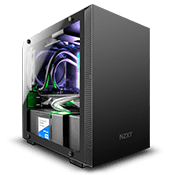 NZXT H200 Tempered Glass Gaming Case - Black