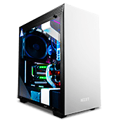 NZXT H700 Tempered Glass Gaming Case - Matte White