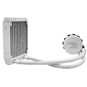 iBUYPOWER 550LC 120mm Liquid Cooling System (White)-Standard 120mm Fan [Revolt]