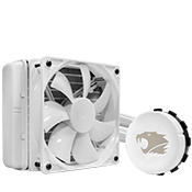 iBUYPOWER 550LC 120mm Liquid Cooling System (White)-Standard 120mm Fan (WHT)