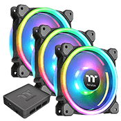 3x [RGB] Thermaltake Riing Trio 12 Radiator 120mm RGB LED Fan