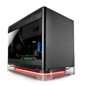 In Win A1 Mini-iTX RGB Gaming Case - Black with Wireless Charging and PSU Included