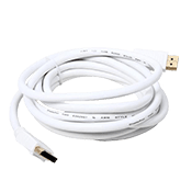 10 ft. DisplayPort Male-Male Cable-28 AWG, High Bit-Rate