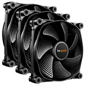 3x [Black] be quiet! Silent Wings 3 PWM 120mm All Black Fan