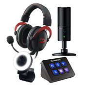 [$40 OFF] Streamer Bundle - Pro ($469 Value)-Microphone + Webcam + Headset + Stream Deck Control