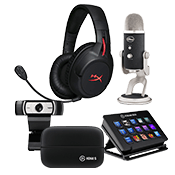 [$200 OFF] Streamer Bundle - All Star ($949 Value)-Microphone + Webcam + Headset + Stream Deck Control + Video Capture Device