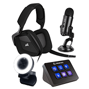 [$100 OFF] Streamer Bundle - Pro ($499 Value)-Microphone + Webcam + Headset + Stream Deck Control