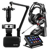 [$150 OFF] Streamer Bundle - All Star ($949 Value)-Microphone + Webcam + Headset + Stream Deck Control + Video Capture Device