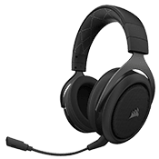 Corsair HS70 Wireless Gaming Headset [Carbon] - Virtual 7.1 Surround Sound-with 50mm drivers and a fully detachable microphone