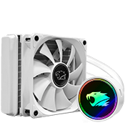 iBUYPOWER 120mm addressable RGB liquid cooling system - White-iBUYPOWER 120mm Fan (White)  [Z370]