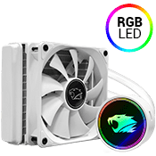 iBUYPOWER 120mm addressable RGB liquid cooling system - White-iBUYPOWER 120mm Fan (White) [Ryzen]